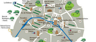 Best Free Things To Do In Paris For Smart Travelers - Paris map monuments